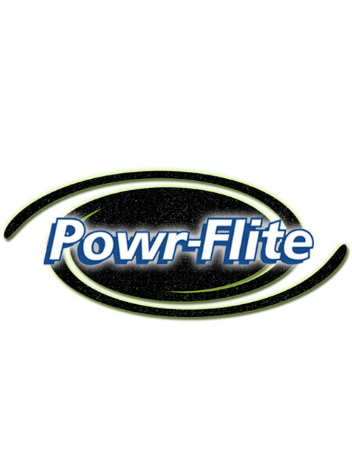 "Powr-Flite Part #E509 1-1/4 X 10-1/2"" Floor Brush, Plastic, Black"