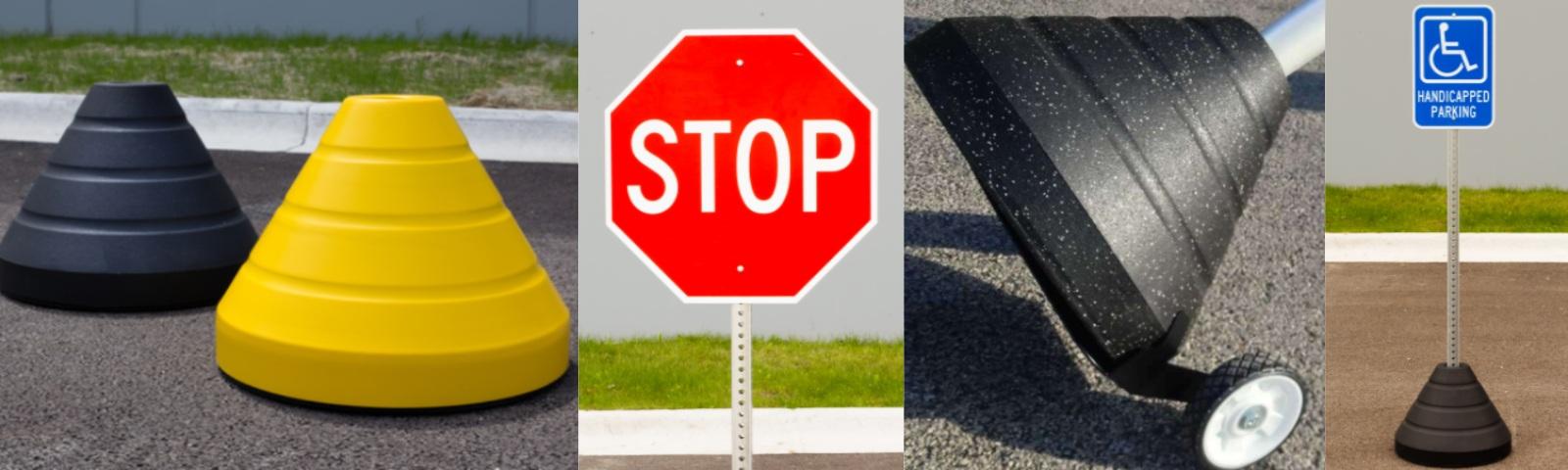TRAFFIC & PARKING SIGN BASES