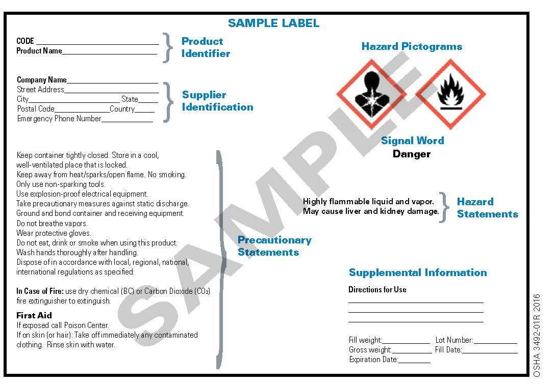 OSHA Chemical Label