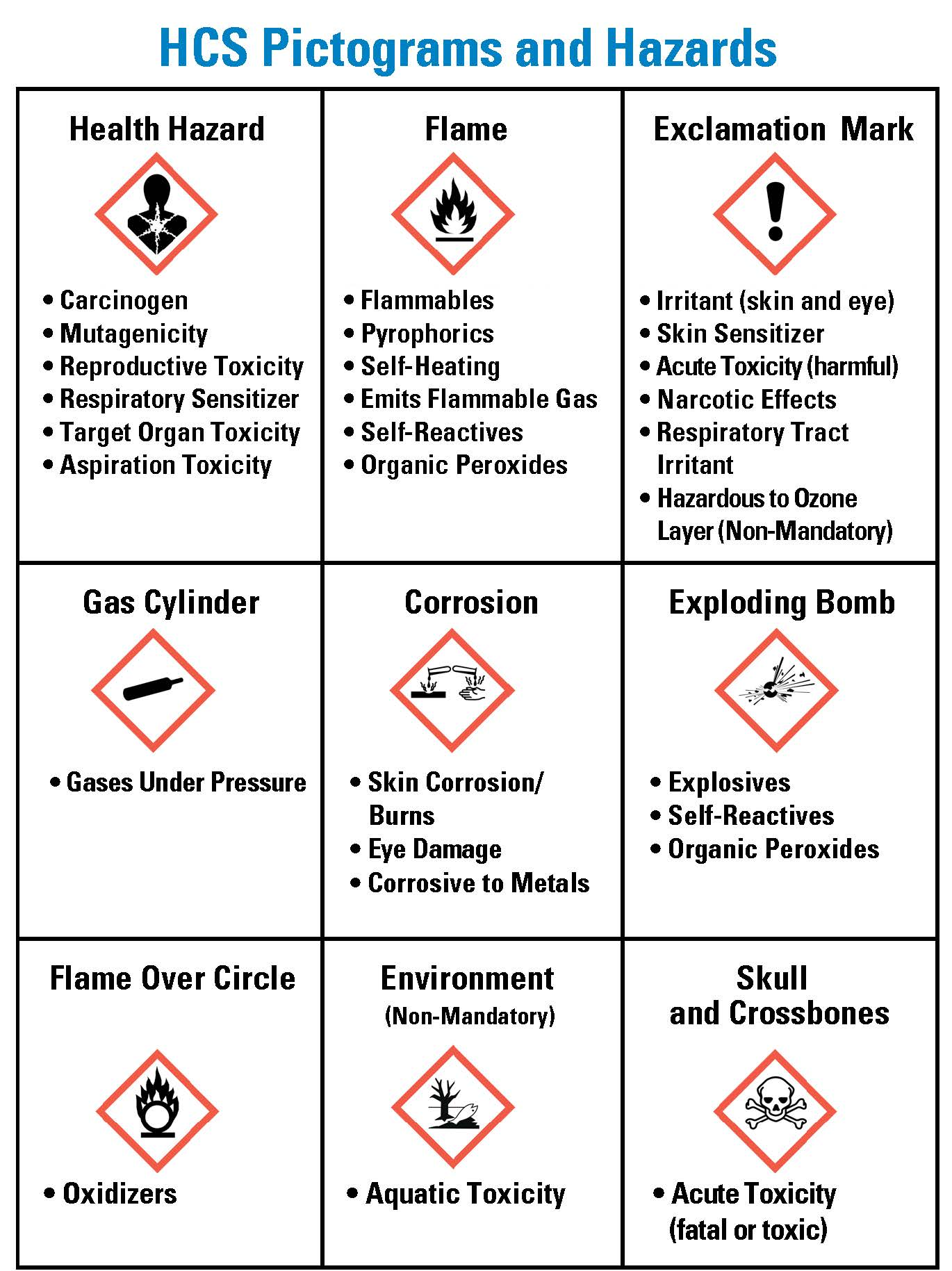 A Visual Guide to HazCom Pictograms, Chemical Labels, and