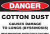 DANGER Cotton Dust