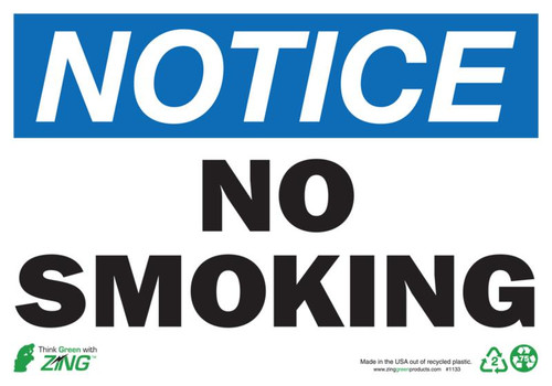 NOTICE No Smoking