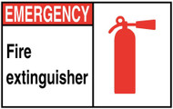 ZING Eco Safety Sign, Fire Extinguisher w/Picto, Available in Different Sizes and Materials