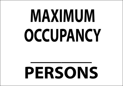 MAXIMUM OCCUPANCY-PERSONS