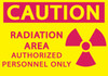 CAUTION RADIATION AREA AUTHORIZED PERSONNEL ONLY