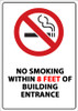 No Smoking Within 8 Feet of Building Entrance