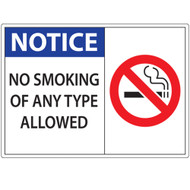 ZING No Smoking Window Decal, Notice No Smoking, Available in Different Sizes and Materials