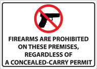 Firearms Are Prohibited On These Premises, Regardless Of A Concealed-Carry Permit