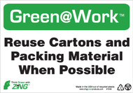 Reuse Cartons and Packing Material When Possible