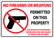 No Firearms Or Weapons Permitted On This Property, Violators Are Considered Trespassers And Are Subject To Forfeiture Or Arrest