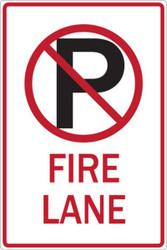 No Parking Symbol Fire Lane
