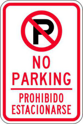 No Parking/Prohibido Estacionarse