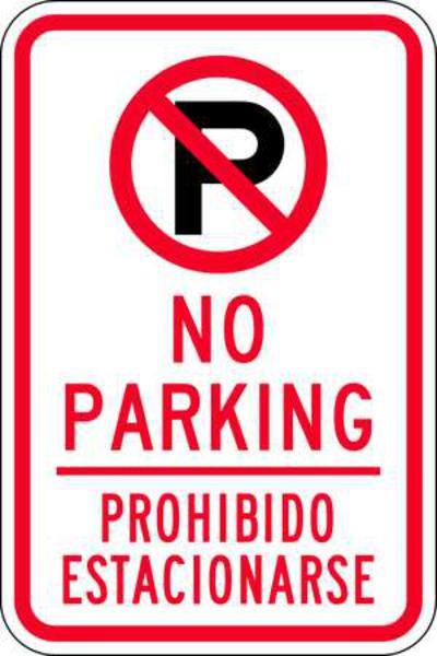 No Parking/Prohibido Estacionarse