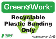 Recyclable Plastic Banding Only, Recycle Symbol