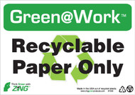 Recyclable Paper Only, Recycle Symbol
