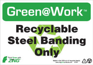 Recyclable Steel Banding Only, Recycle Symbol