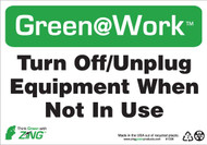 Turn Off, Unplug Equipment When Not In Use