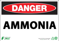 ZING Eco Safety Sign, DANGER, Ammonia, Available in Different Sizes and Materials