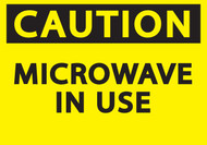CAUTION MICROWAVE IN USE