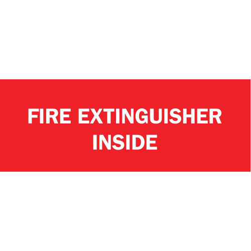 Safety Sign, FIRE EXTINGUISH, 5X14