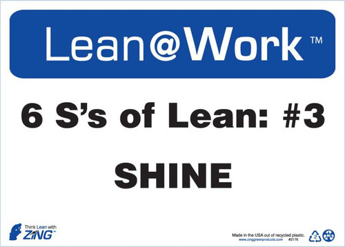 Lean At Work Sign, 10x14