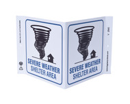 ZING 2540 Eco Safety V Sign, Severe Weather Shelter, 7Hx12Wx5D, Recycled Plastic