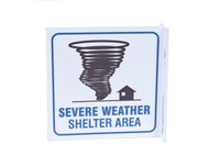ZING 2541 Eco Safety L Sign, Severe Weather Shelter, 7Hx2.5Wx7D, Recycled Plastic