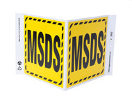 ZING 2602 Eco Safety V Sign, MSDS, 7Hx12Wx5D, Recycled Plastic