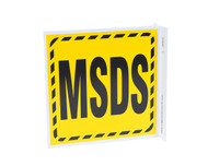 ZING 2603 Eco Safety L Sign, MSDS, 7Hx2.5Wx7D, Recycled Plastic