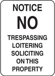 Eco Security Sign, 14X10