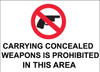 Concealed Carry Sign, 10X14