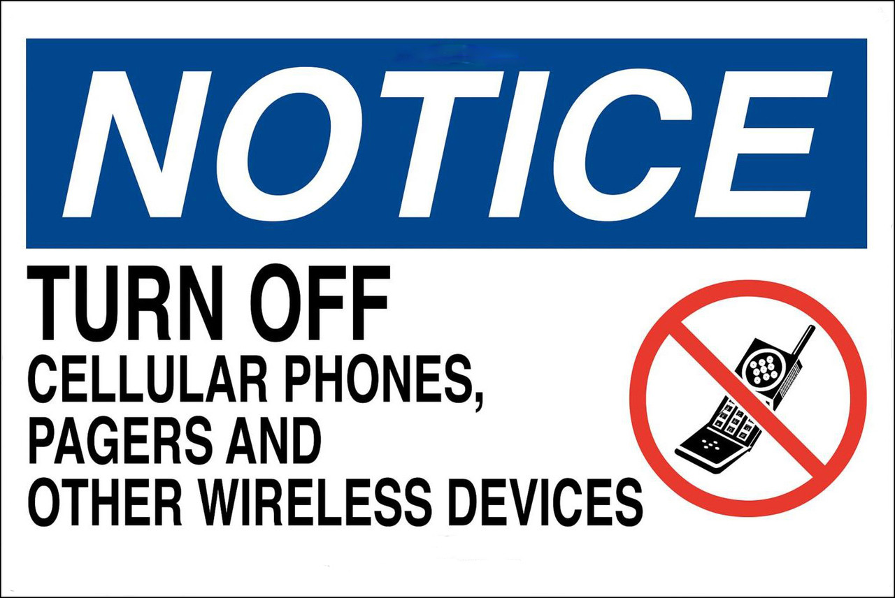 turn off cell phones sign