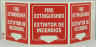Eco Safety TriView Sign, 7.5x20