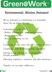 Eco Poster, Mission Statement, 22X16