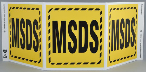 ZING Eco Safety TriView Sign, 7.5x20