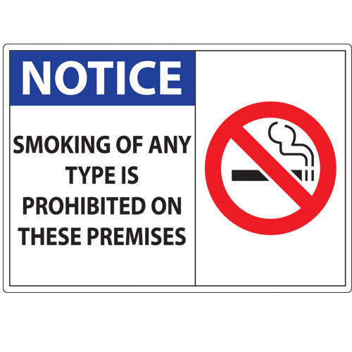 Notice, No smoking sign