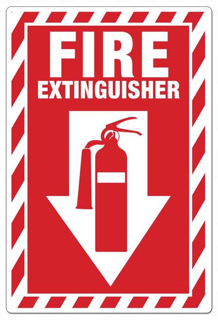 Fire extinguisher ANSI sign