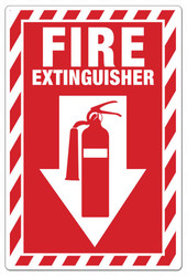 Fire extinguisher ANSI sign
