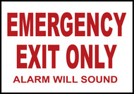 Emergency Exit Only Safety Sign
