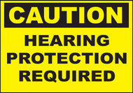 Zing Safety Sign, Caution, Hearing Protection Required, Available in Different Sizes and Materials