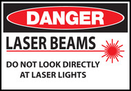 Danger sign, Laser Beams