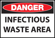 Danger sign, Infectious Waste Area