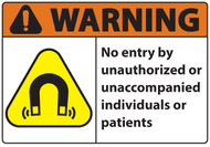 Warning, No Entry By Unauthorized Individuals Sign