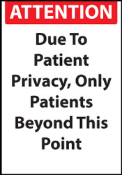 Patients Only Beyond This Point