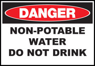 Danger Sign Non Potable Water