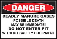 Danger Sign Deadly Manure Gases