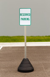 "Zing ""Reserved Parking"" Sign Kit Bundle, with Base and Post"