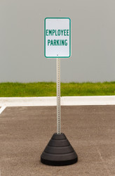 "Zing ""Employee Parking"" Sign Kit Bundle, with Base and Post"