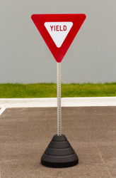 Zing Yield Sign Kit Bundle, with Base and Post