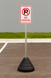 "Zing ""No Parking"" Sign Kit Bundle, with Base and Post"